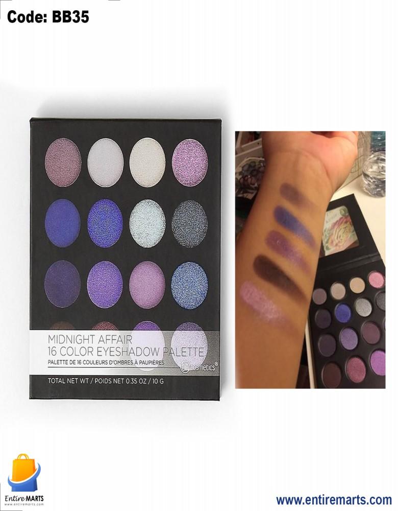 BH Midnight Affair 16 Colour Eyeshadow Palette